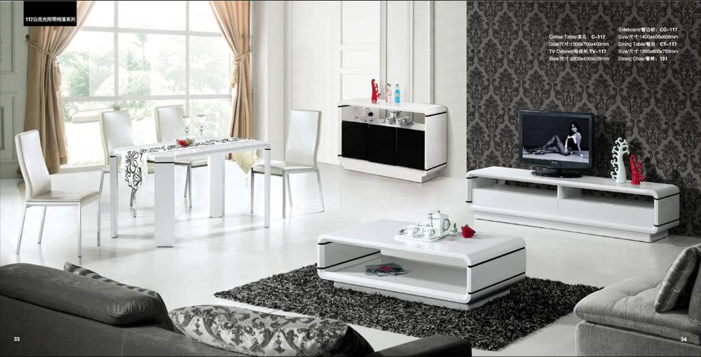 House Furniture Set 4 Piece: Coffee Table,tv Cabinet,sideboard And Throughout Current Tv Cabinets And Coffee Table Sets (Photo 6608 of 7746)