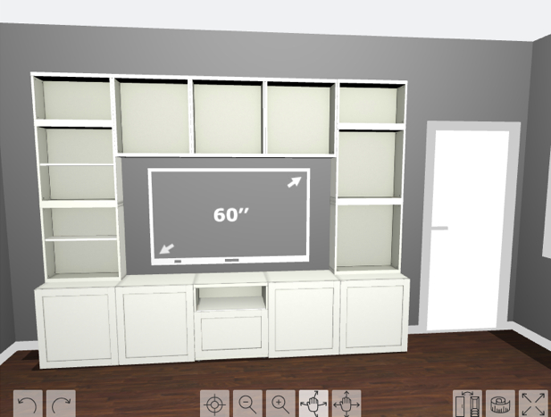 How To Design, Install, And Add Trim To An Ikea Besta Built In Intended For Best And Newest Ikea Built In Tv Cabinets (Image 12 of 25)