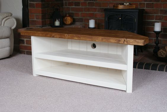 How To Easily Build A Rustic Corner Tv Stand And How To Make With Trendy Marvin Rustic Natural 60 Inch Tv Stands (Image 10 of 25)