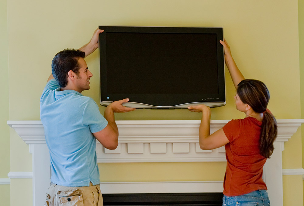 How To Pack & Move Your Tv – Best Buy Within 2018 Preston 66 Inch Tv Stands (Photo 13 of 25)