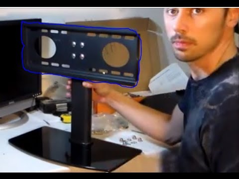 How To Setup Any Flatscreen Tv On Stand Review – Youtube For Current Universal Flat Screen Tv Stands (Image 8 of 25)