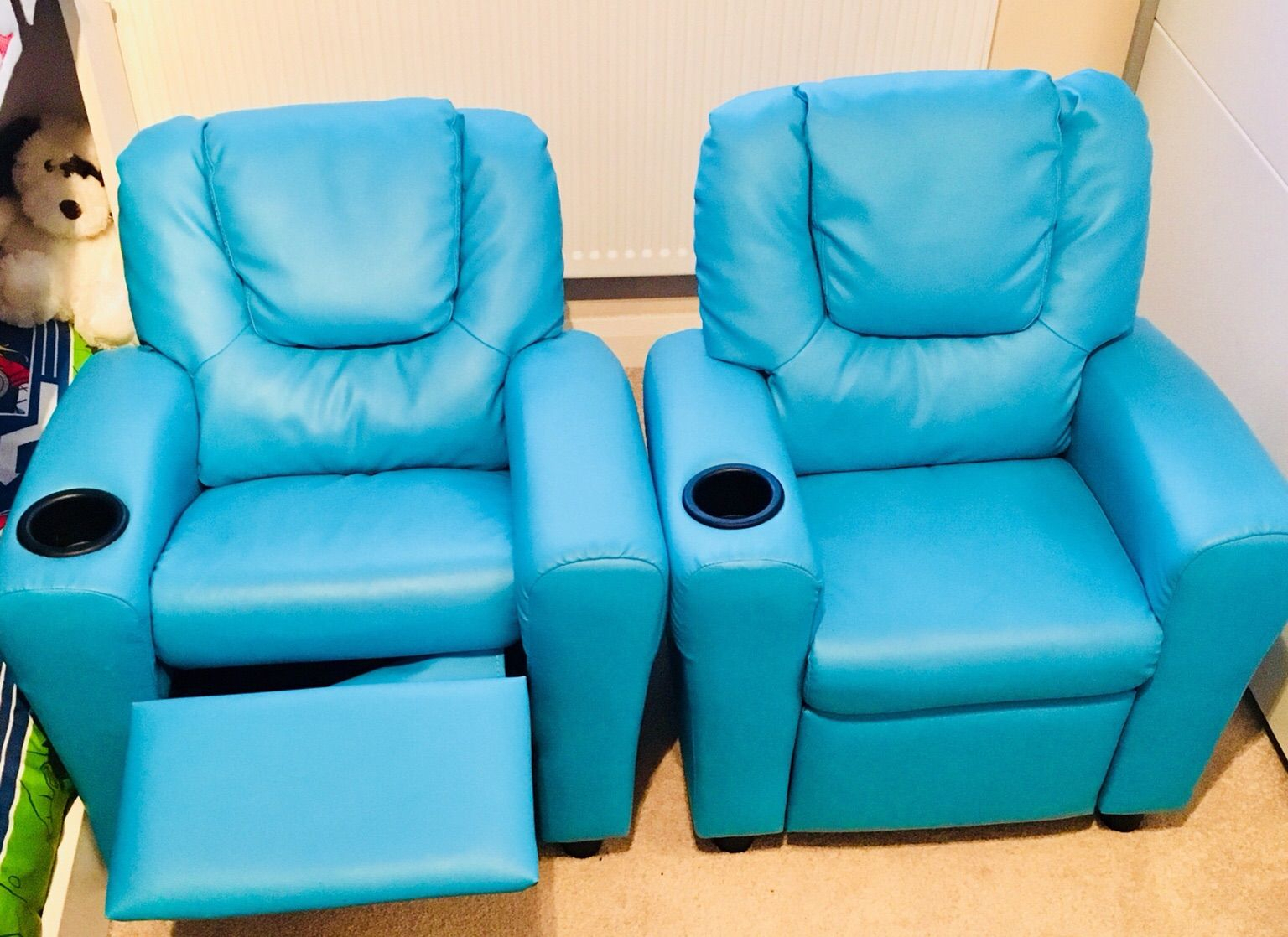 Https://en.shpock/i/woxs3Bq6Fyvzxwdn/ 2018 02 24T14:41:59+ Throughout Moana Blue Leather Power Reclining Sofa Chairs With Usb (Photo 18 of 25)