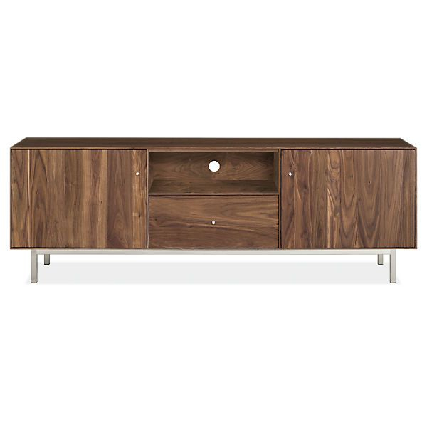 Hudson Media Cabinets With Steel Base Regarding Best And Newest Melrose Titanium 65 Inch Lowboy Tv Stands (Image 12 of 25)