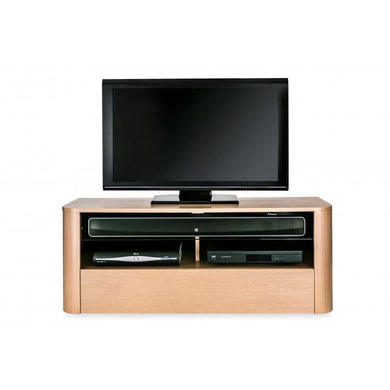 Hugo Tv Cabinet With Strengthened Glass Shelf (Image 16 of 25)