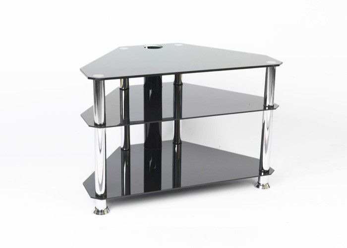"""Iconic Black Glass Tv Stand - Up To 32"""" - Gamba Chb32 Suitable For regarding Most Popular Tv Stands For Tube Tvs"""