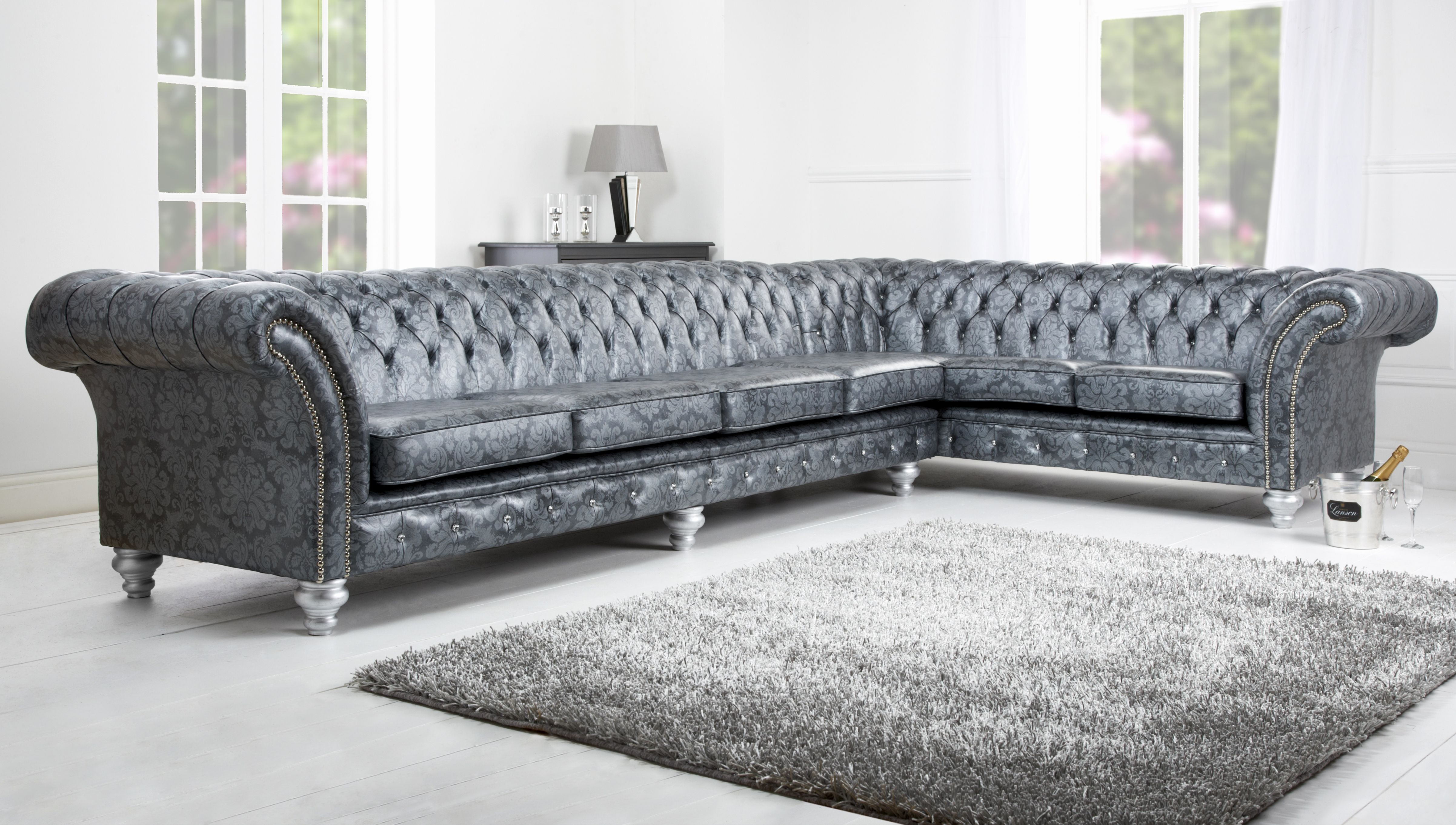 Idea Silver Leather Sofa Pictures Sofas Awesome Silver Grey Sofa Throughout Gina Blue Leather Sofa Chairs (Image 14 of 25)