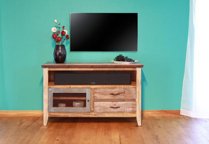 "Ifd Antique 52"" Tv Stand Ifd966Stand In Popular Casey Umber 74 Inch Tv Stands (Image 10 of 25)"