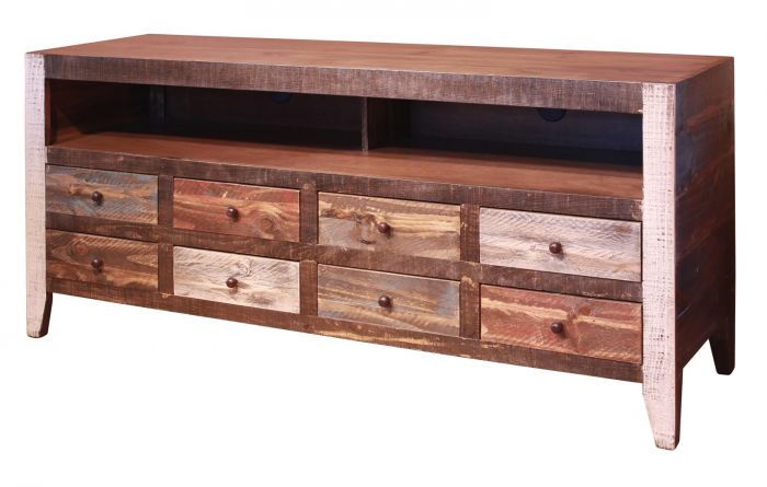 Ifd Antique 8 Drawer Tv Stand In Multicolor Ifd964Stand Intended For Most Popular Casey Umber 74 Inch Tv Stands (Image 11 of 25)