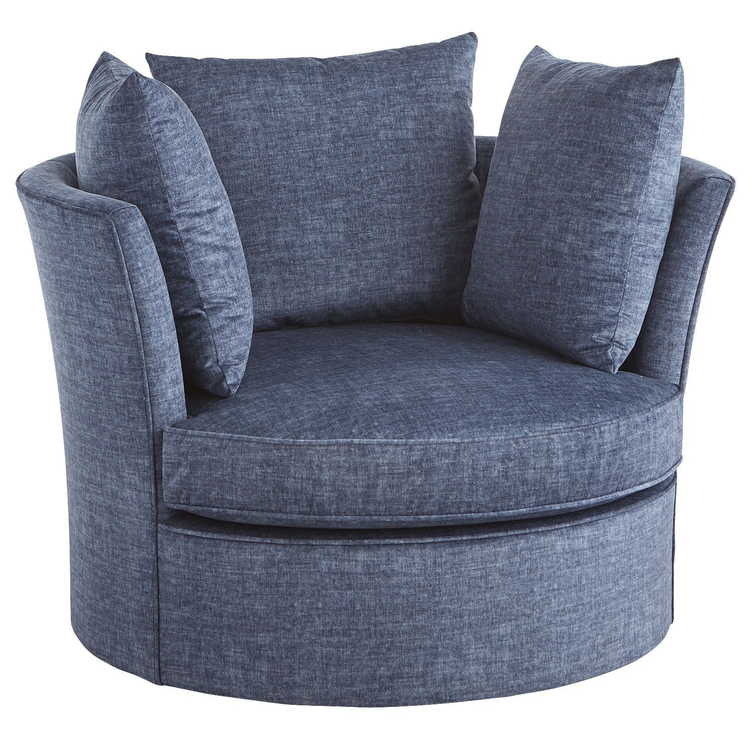 Ike Navy Blue Oversized Swivel Chair | Products | Pinterest | Chair Regarding Harbor Grey Swivel Accent Chairs (Image 15 of 25)