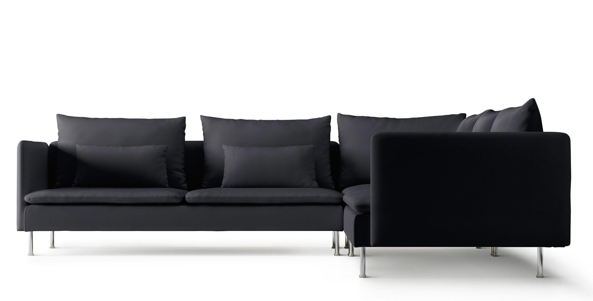 Ikea Fabric Corner Sofas | Ireland – Dublin Inside Lucy Dark Grey Sofa Chairs (Image 10 of 25)