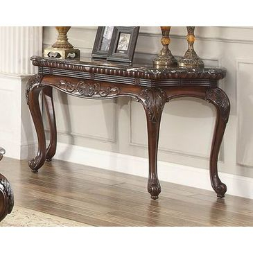 Impressive Marble Top Sofa Table Of Parsons White Stainless Steel With Recent Parsons White Marble Top & Brass Base 48X16 Console Tables (Image 9 of 25)