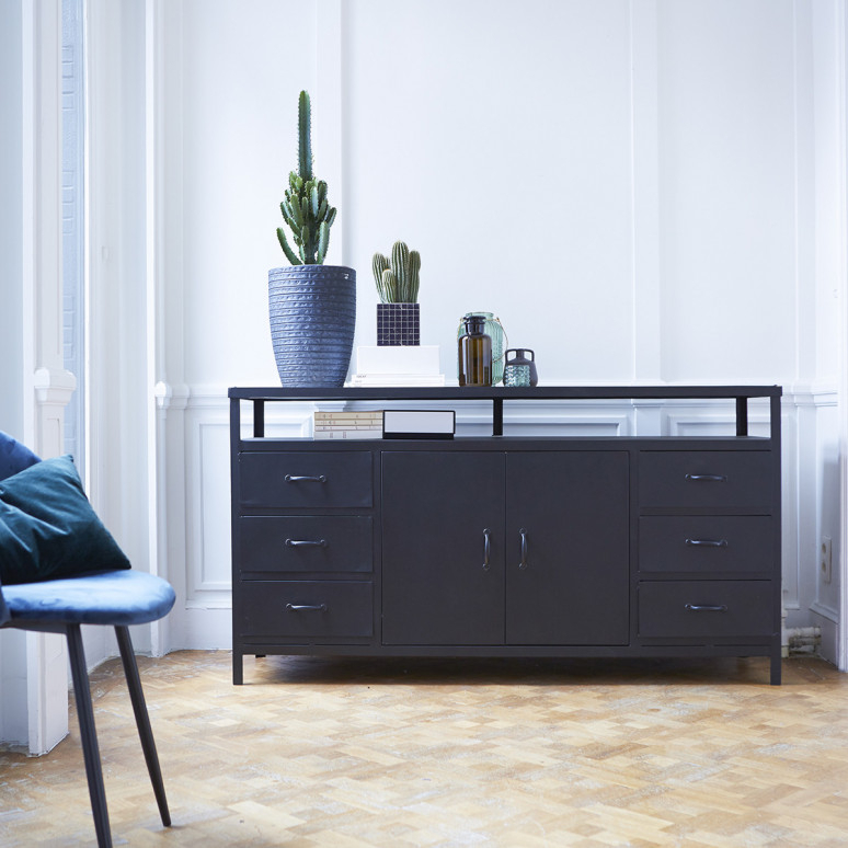 Industrial Style Tv Unit In Metal – Industrial Style Tv Stand With Regard To Most Recently Released Sideboard Tv Stands (Image 12 of 25)