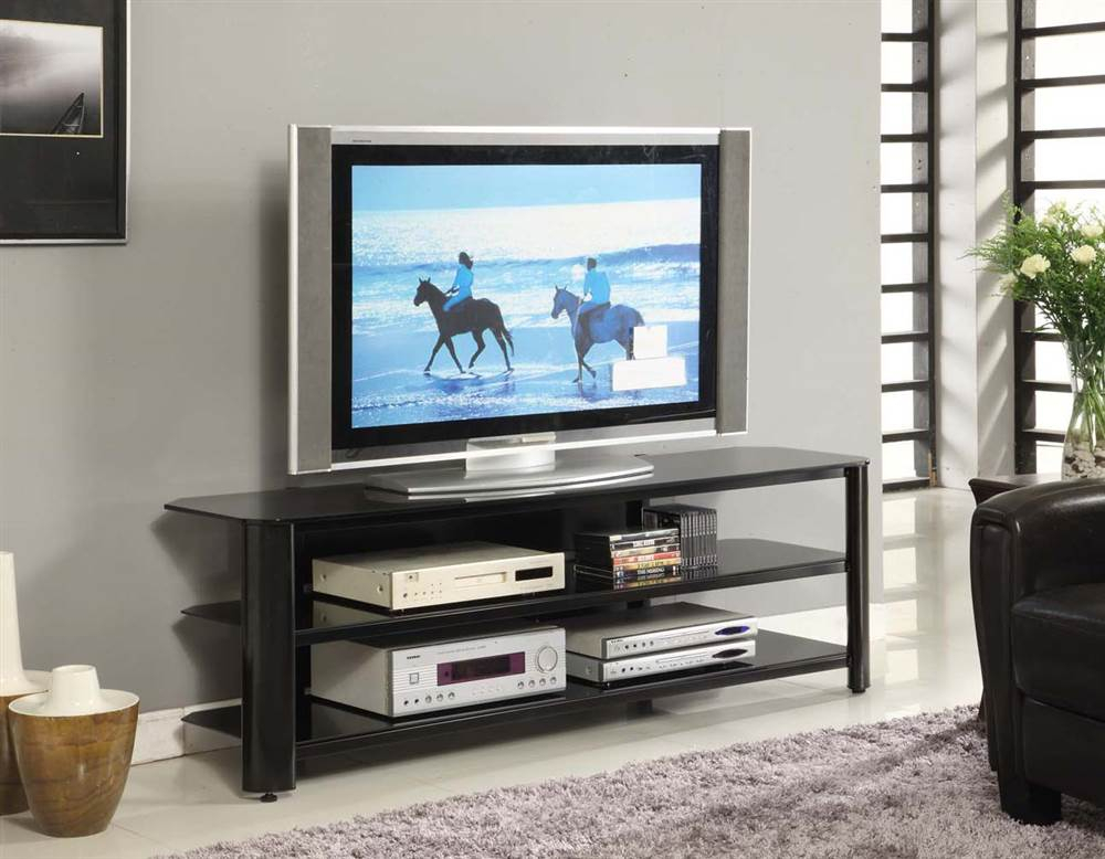 """Innovex Oxford Black Tv Stand For Tvs Up To 65"""" – Walmart Inside Well Known Oxford 84 Inch Tv Stands (Image 10 of 25)"""