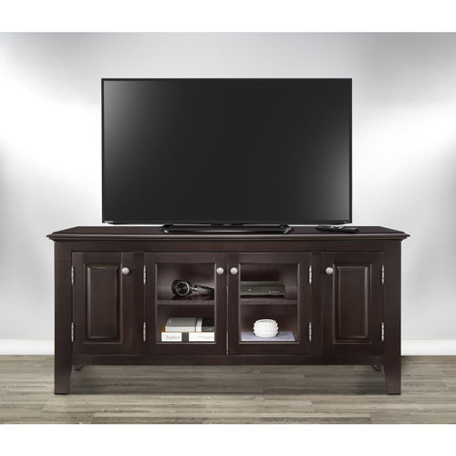 """Insignia 60"""" Tv Stand – Dark Espresso : Tv Stands – Best Buy Canada Regarding Most Up To Date Valencia 60 Inch Tv Stands (Image 12 of 25)"""
