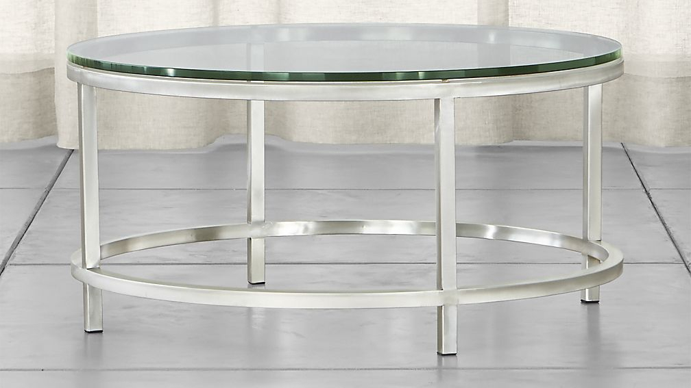 Interior Design For Round Glass Table At Era Coffee Reviews Crate Intended For Popular Elke Glass Console Tables With Brass Base (Image 16 of 25)