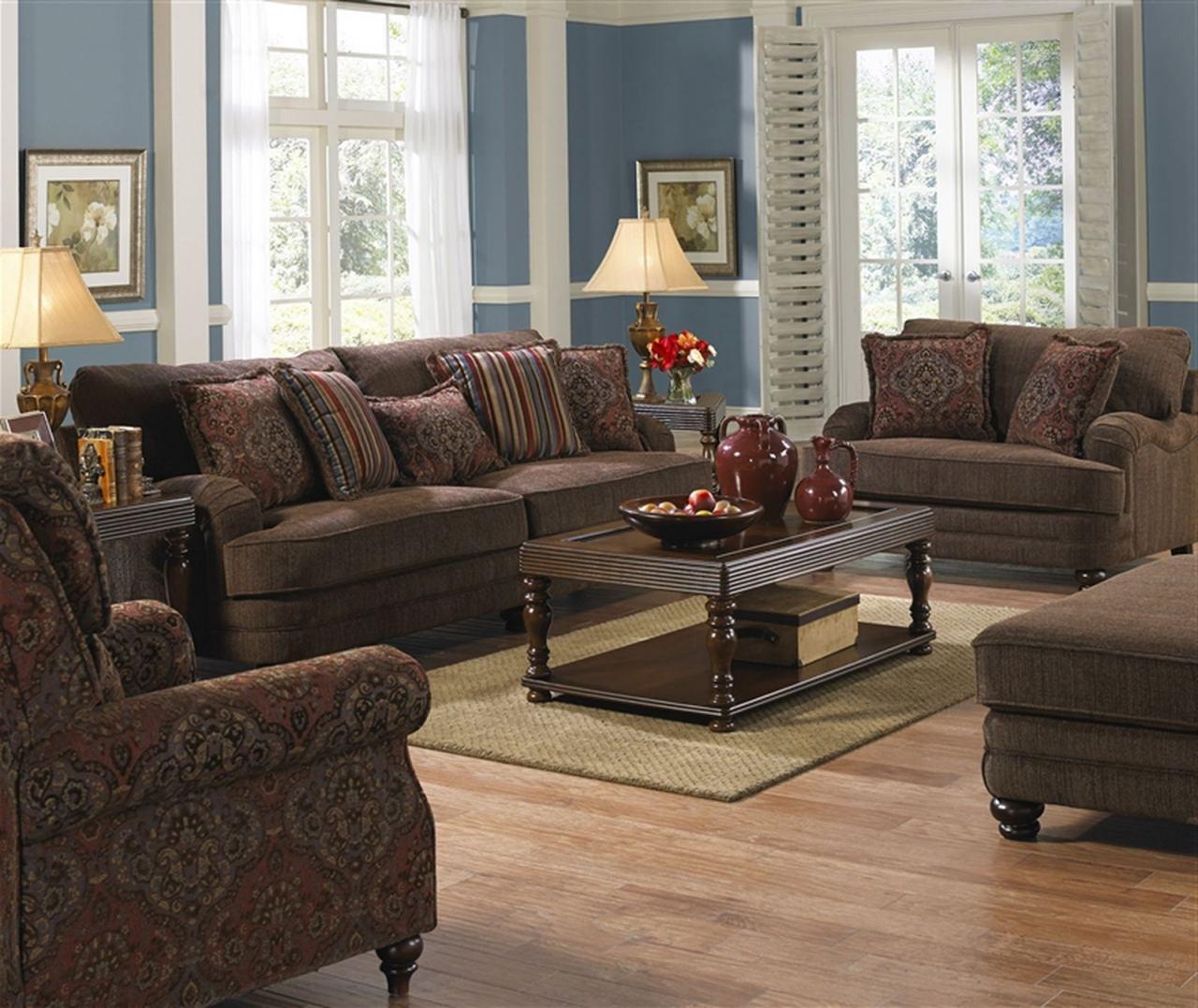 Jackson Brennan Sofa Living Room Set In Auburn/garnet Code:univ20 With Brennan Sofa Chairs (View 24 of 25)