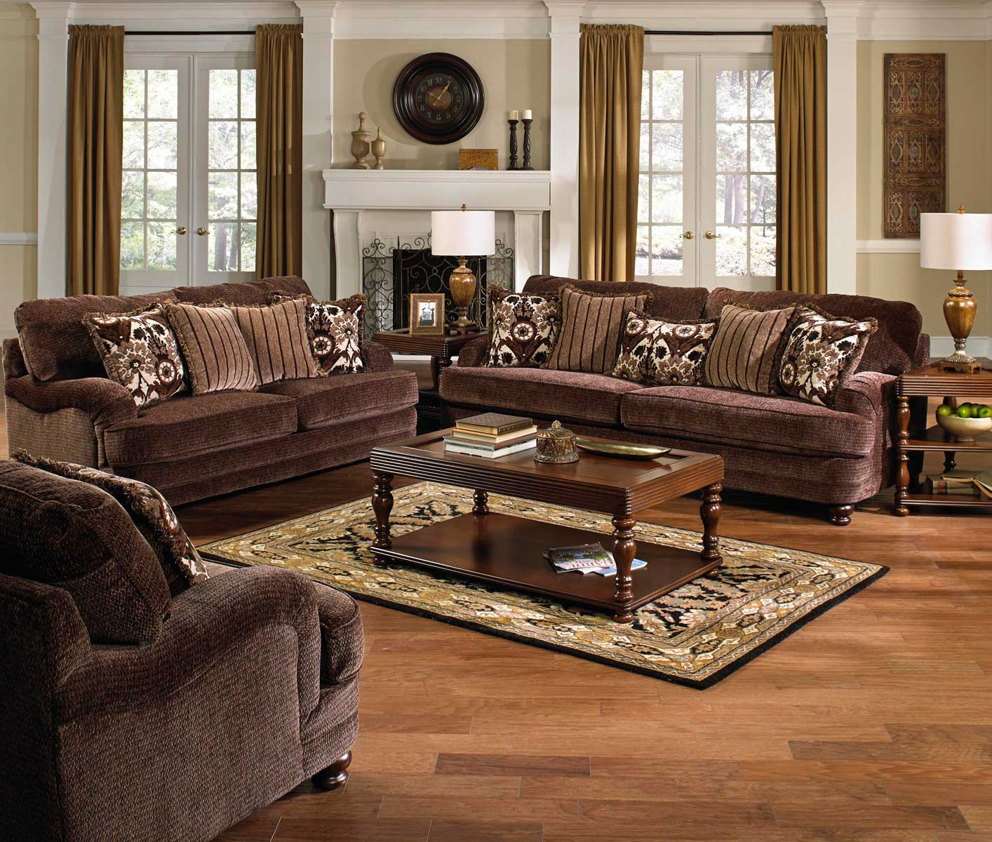 Jackson Brennan Sofa Set – Espresso Jf 4438 Sofa Set Espresso At Throughout Brennan Sofa Chairs (Photo 10 of 25)