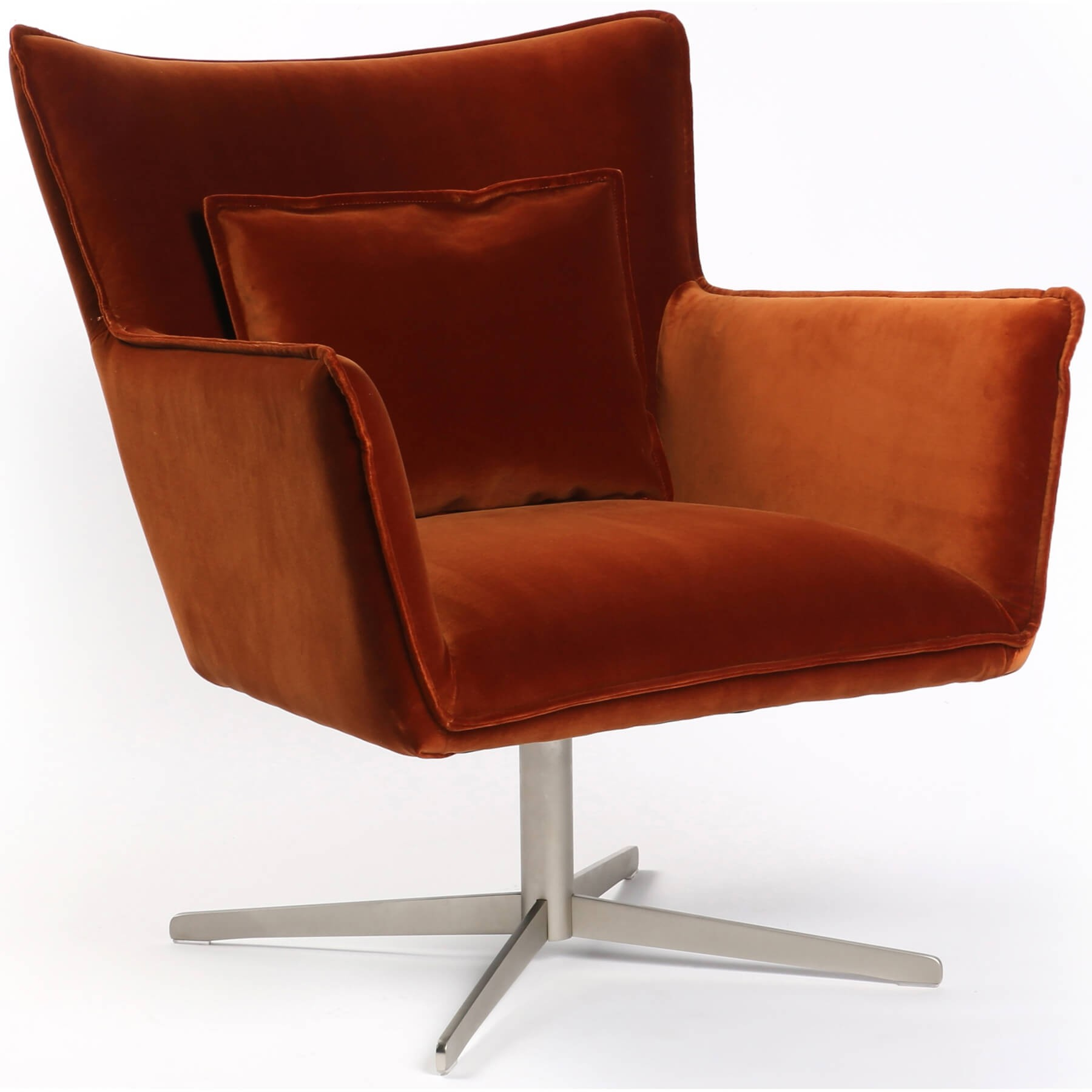 Jacob Swivel Chair, Sienna - Recliners, Swivel, Gliders - Chairs inside Swivel Tobacco Leather Chairs