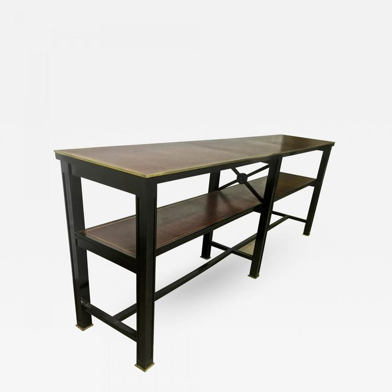 Jacques Adnet Neo-Classic Longest 2 Tier Console - Wall Console with regard to Popular Jacque Console Tables