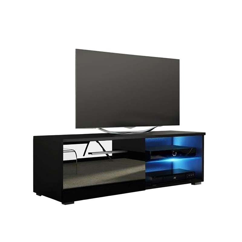 """Jax High Gloss Black Tv Stand 100Cm For Tv Up To 40"""" in Most Current Shiny Black Tv Stands"""