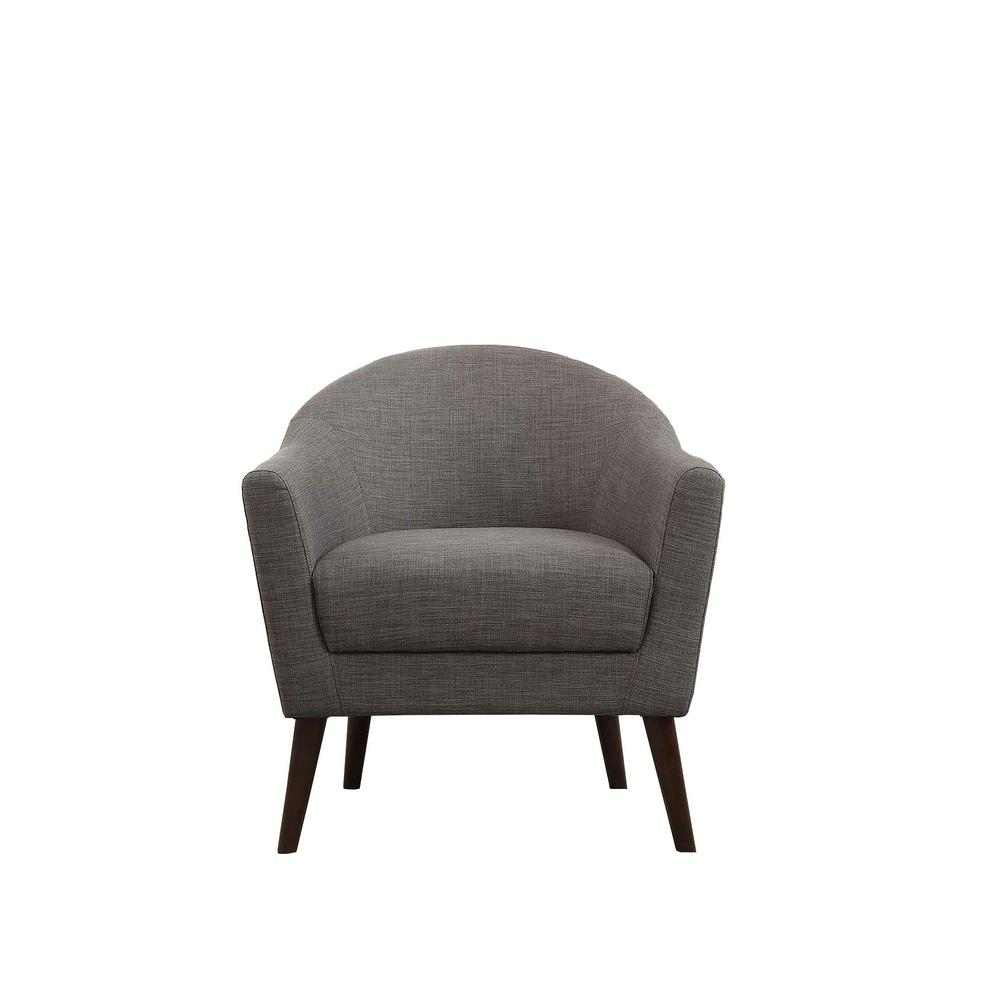 Jennifer Taylor Lia Gold Barrel Chair-63320-1-959 - The Home Depot in Amari Swivel Accent Chairs
