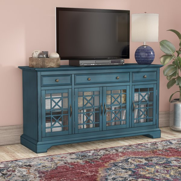 Jofran Antique Blue Tv Stand (Photo 14 of 25)