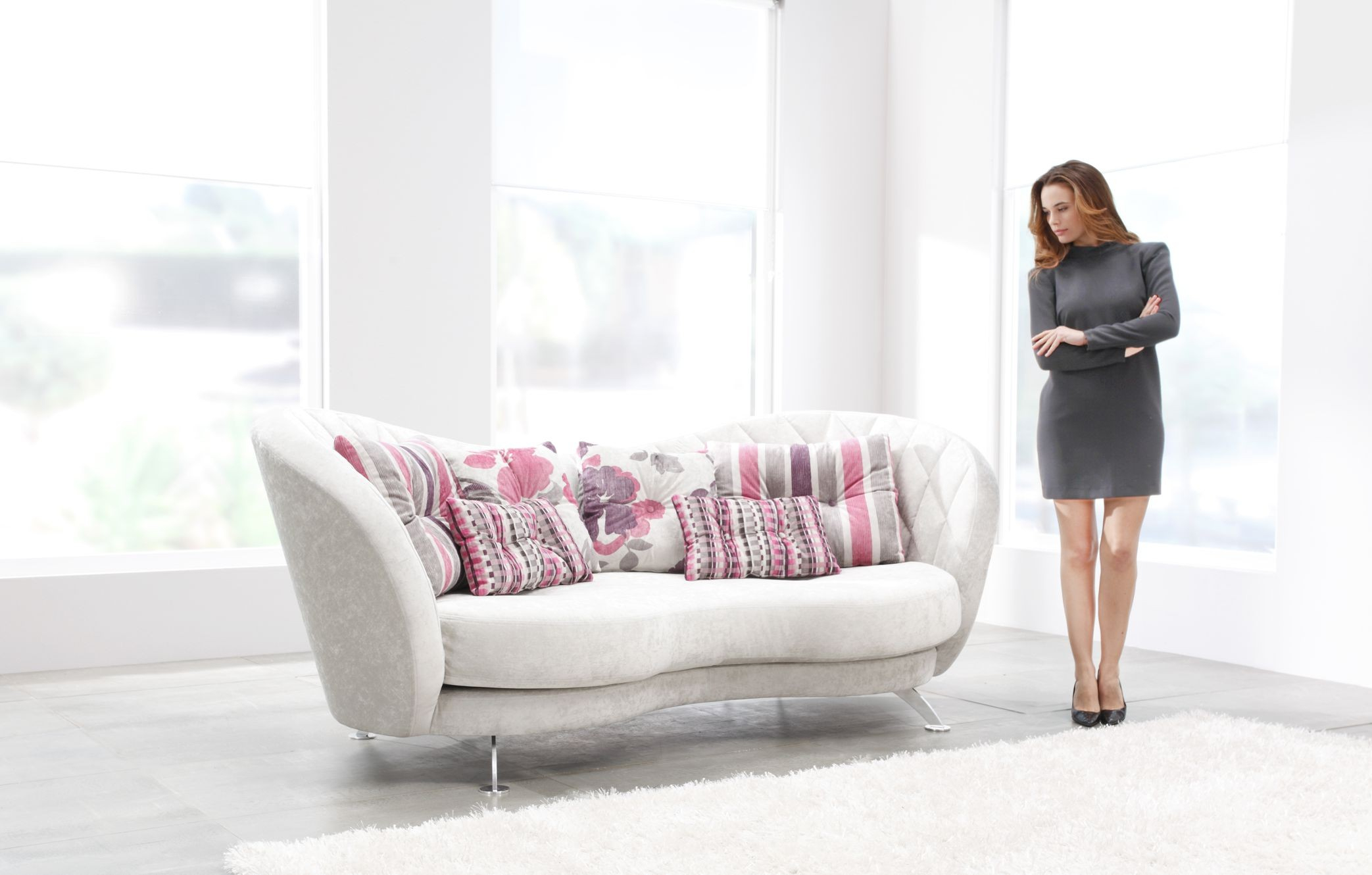 Josephine Contemporary Sofa | Fama Sofas within Josephine Sofa Chairs