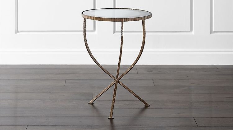 Jules Small Accent Table Within Newest Elke Glass Console Tables With Polished Aluminum Base (View 5 of 25)