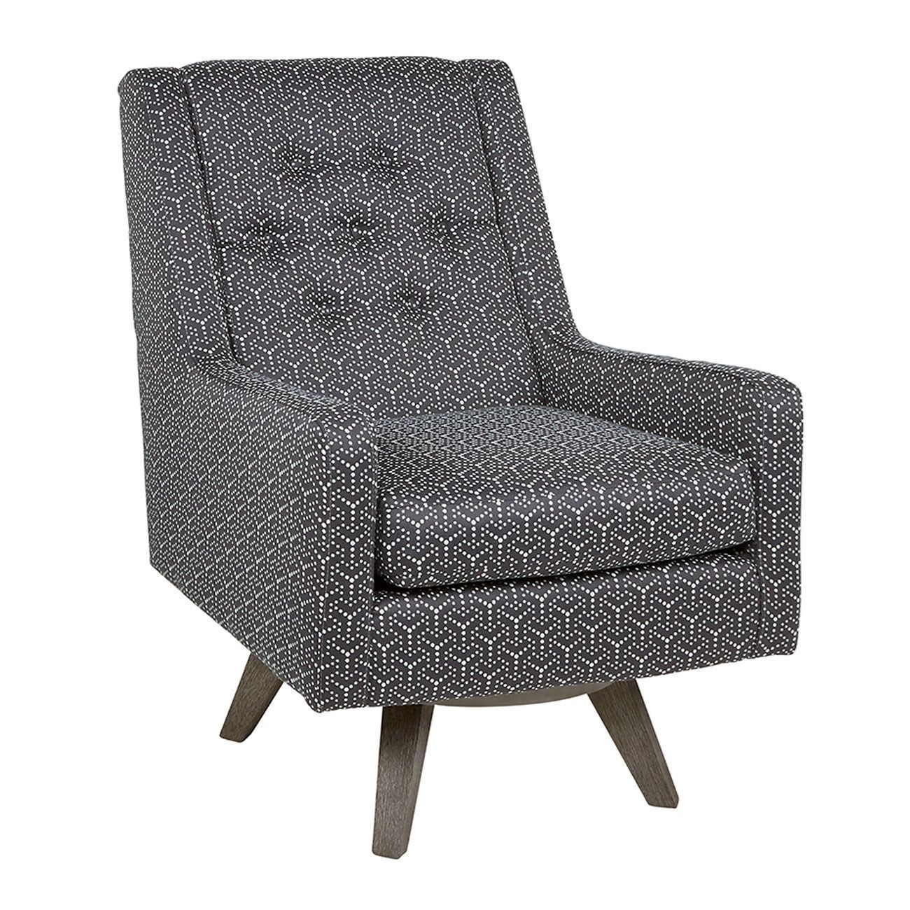 Kale Charcoal Swivel Chair – Woodstock Furniture & Mattress For Charcoal Swivel Chairs (View 4 of 25)