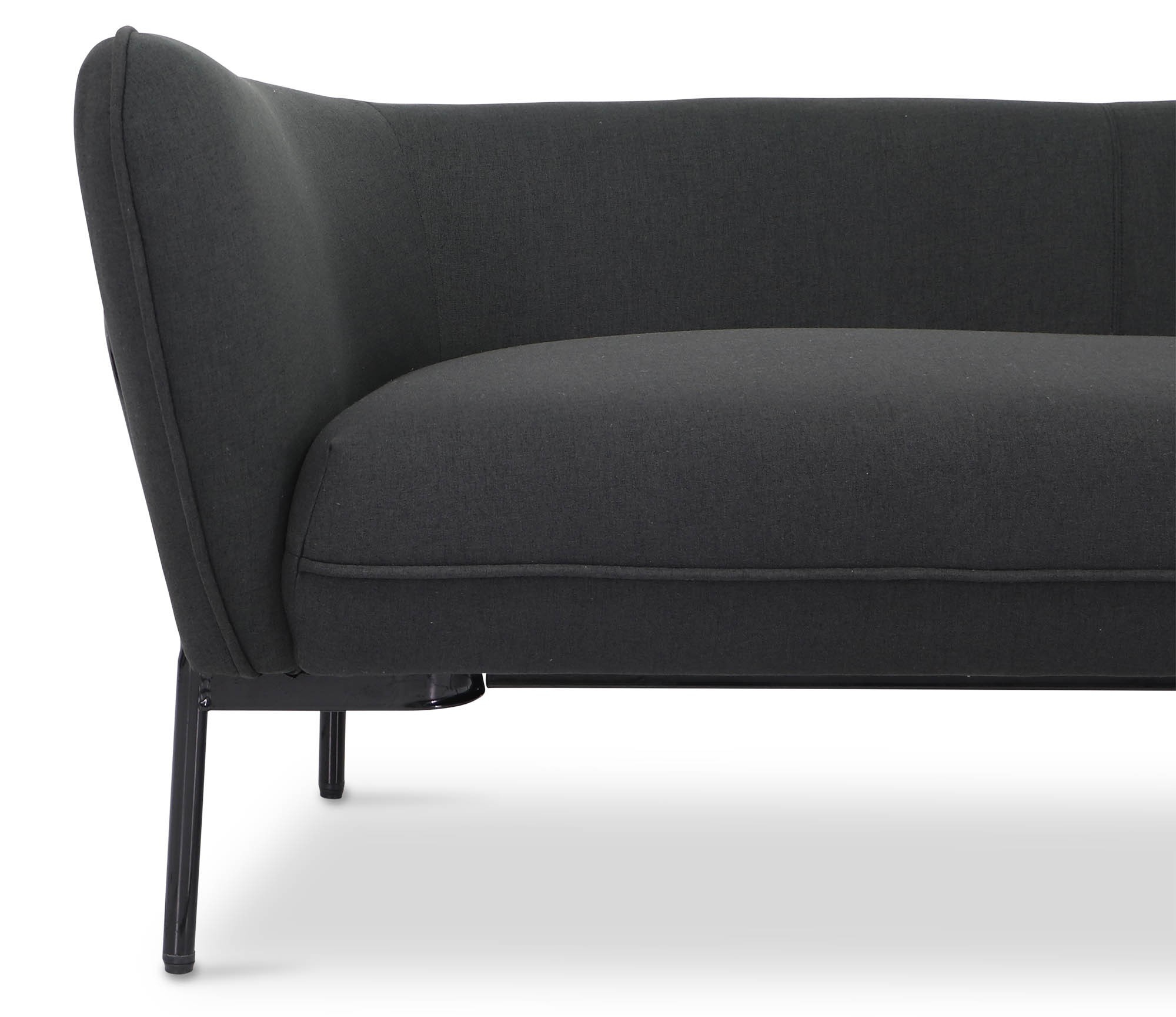 Karen Sofa In Black With Black Iron Stand | Furniture & Home Décor Inside Karen Sofa Chairs (View 3 of 25)