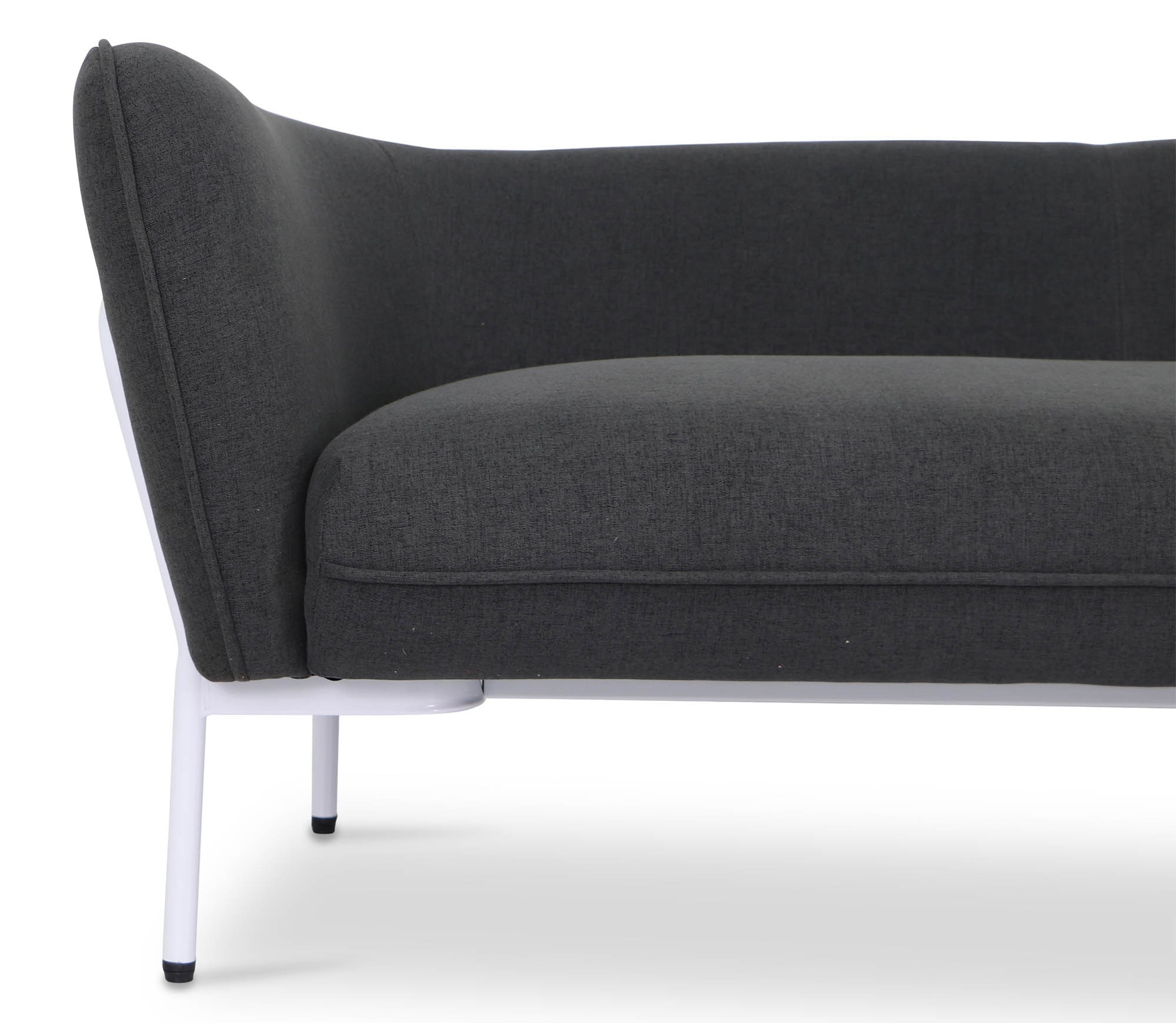 Karen Sofa In Dark Grey With White Iron Stand | Furniture & Home In Karen Sofa Chairs (View 4 of 25)