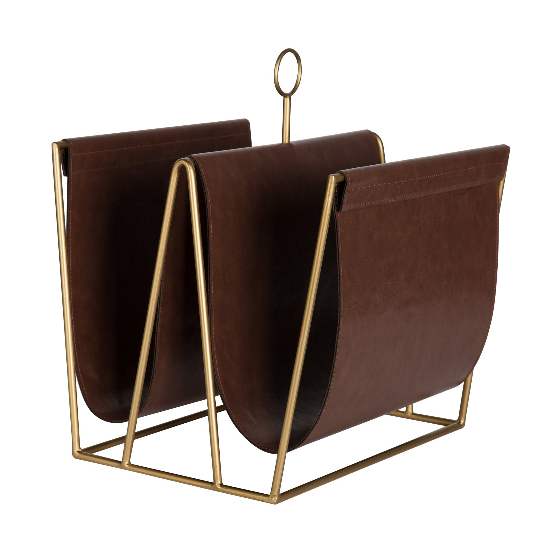 Kate And Laurel Alton Faux Leather Magazine File Holder In 2018 Within Magnolia Home Dapper Fog Sofa Chairs (Image 8 of 25)