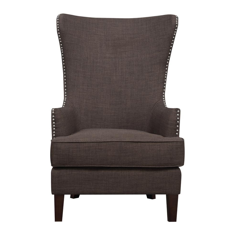 Kegan Chocolate Accent Chair Ukr081100 – The Home Depot Intended For Devon Ii Swivel Accent Chairs (View 17 of 25)