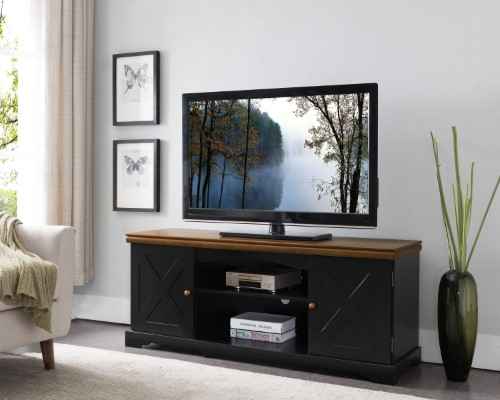 Kings Brand Furniture – 54' Wood Tv Stand Entertainment Center With Intended For Newest Kilian Grey 60 Inch Tv Stands (Image 3 of 12)