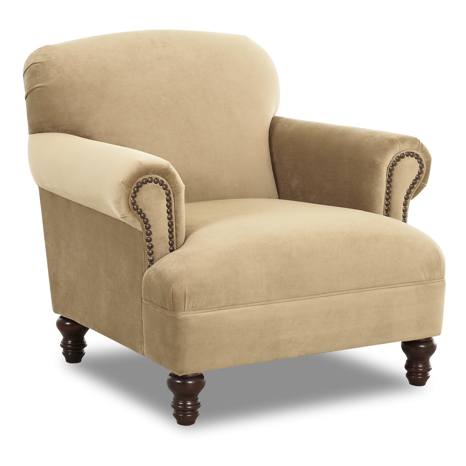 Klaussner Furniture Bailey Armchair & Reviews | Wayfair In Bailey Angled Track Arm Swivel Gliders (View 4 of 25)