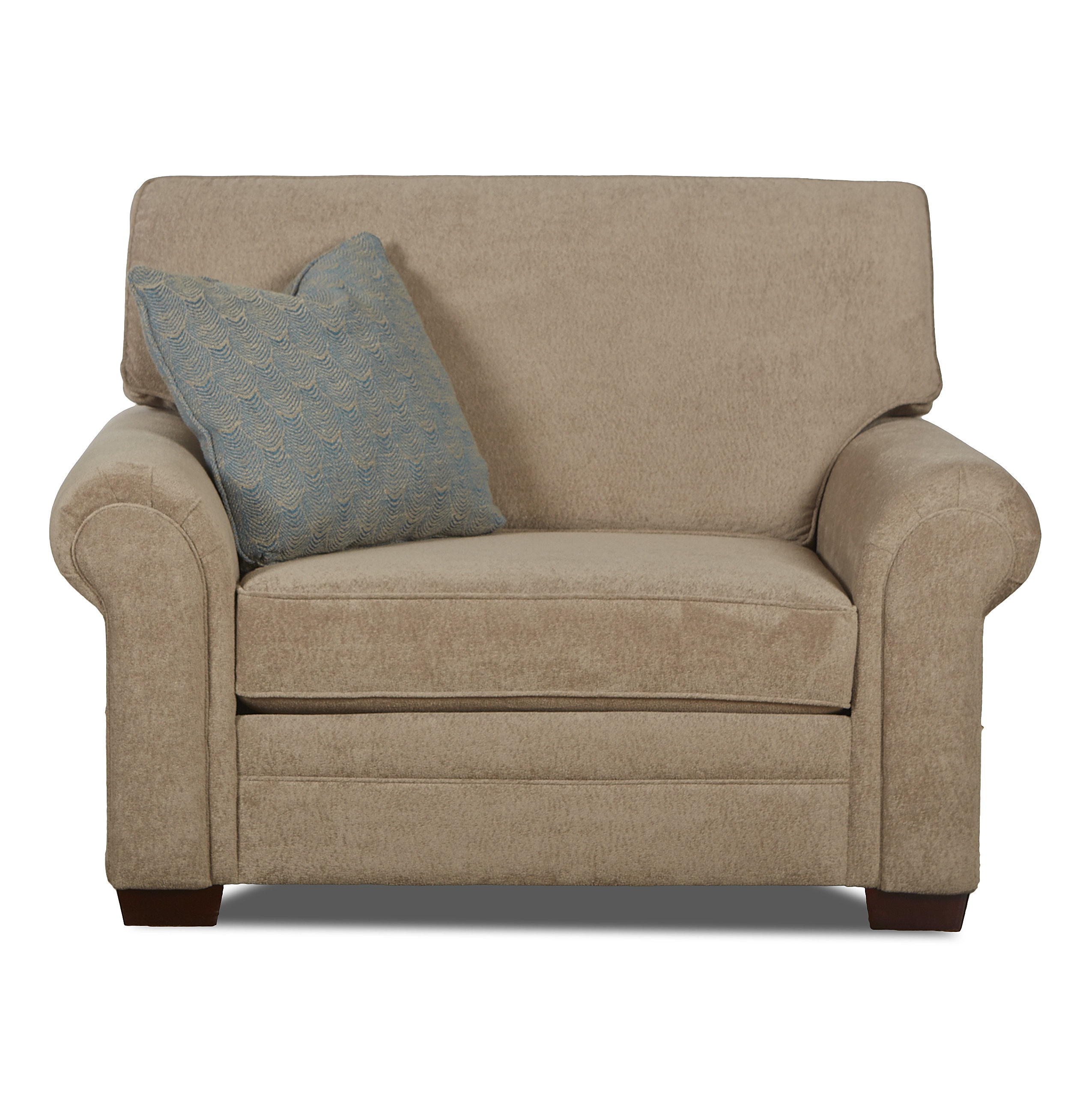 Klaussner Furniture Surrey Chair And A Half | Wayfair Throughout Bailey Angled Track Arm Swivel Gliders (Image 17 of 25)