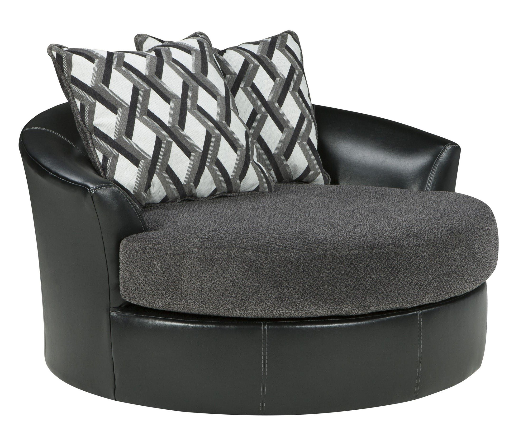 Kumasi Smoke Oversized Swivel Accent Chair | Interior Decorating In Mesa Foam Oversized Sofa Chairs (Image 13 of 25)
