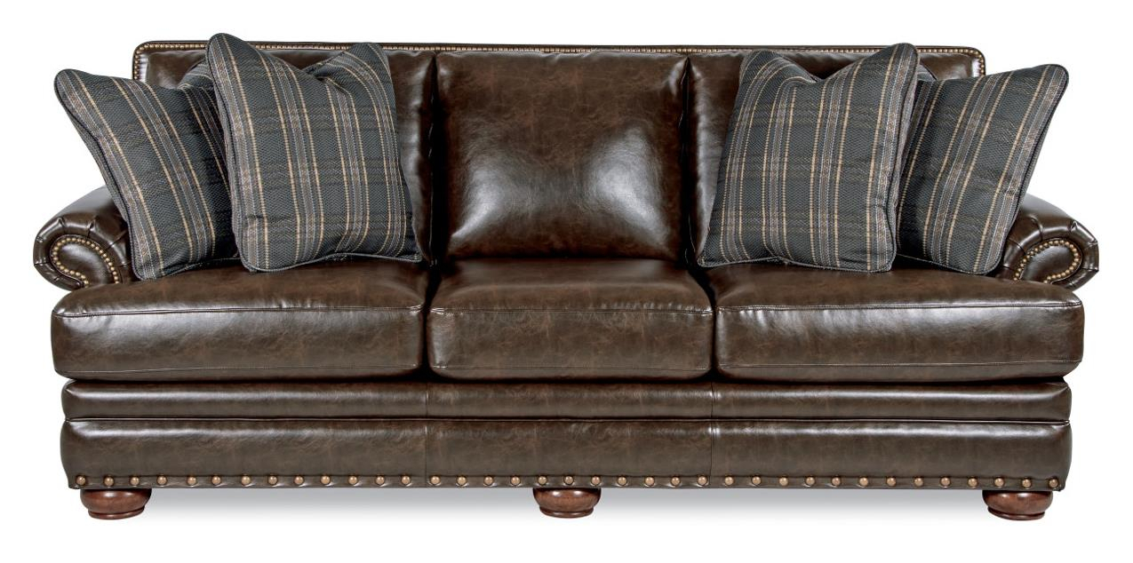 La Z Boy Brennan Traditional Sofa With Comfort Core Cushions And Two With Brennan Sofa Chairs (Image 20 of 25)