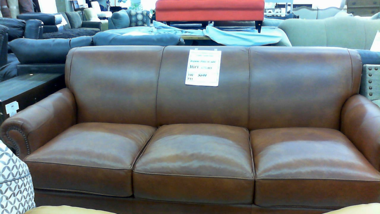 Landry Leather Sofa $699 | Overstock Outlet Super Store Within Landry Sofa Chairs (View 20 of 25)