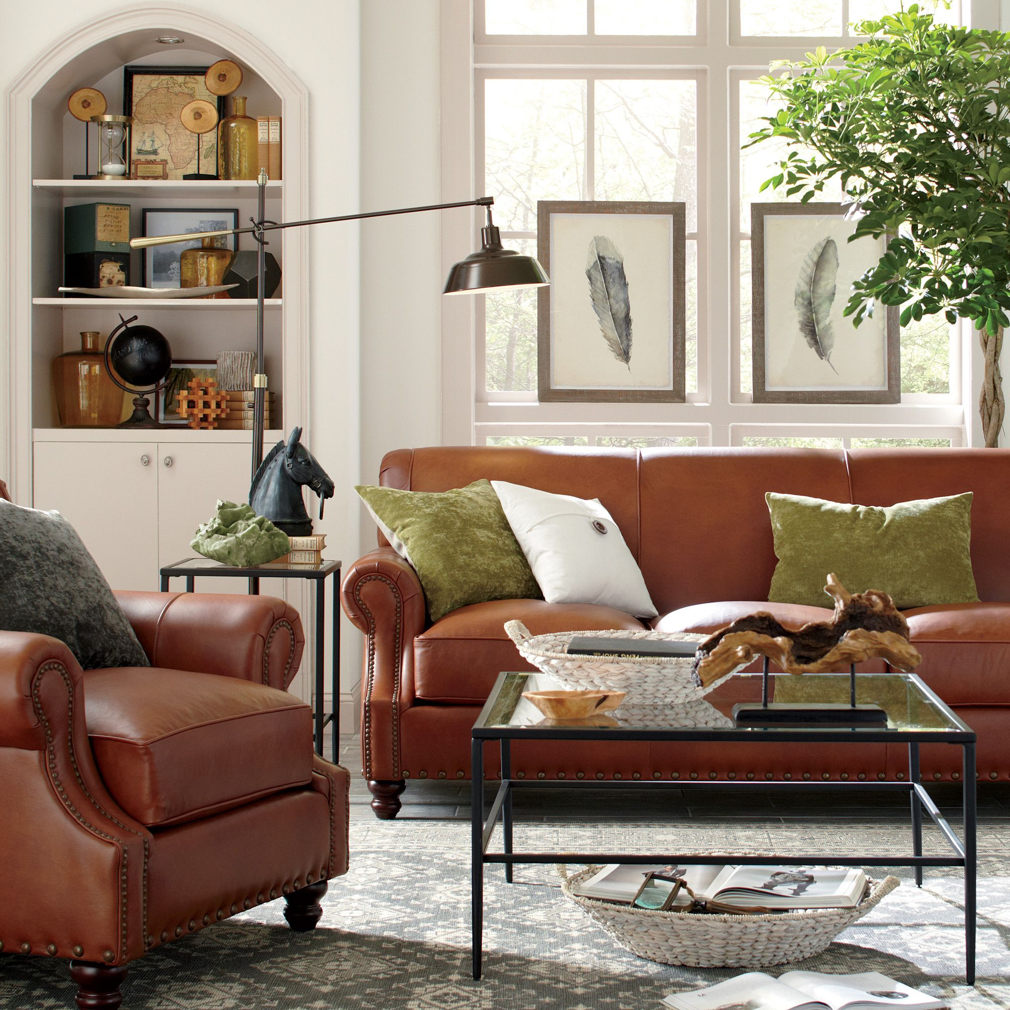 Landry Leather Sofa | Sofa | Pinterest | Table, Living Room And Room In Landry Sofa Chairs (View 5 of 25)