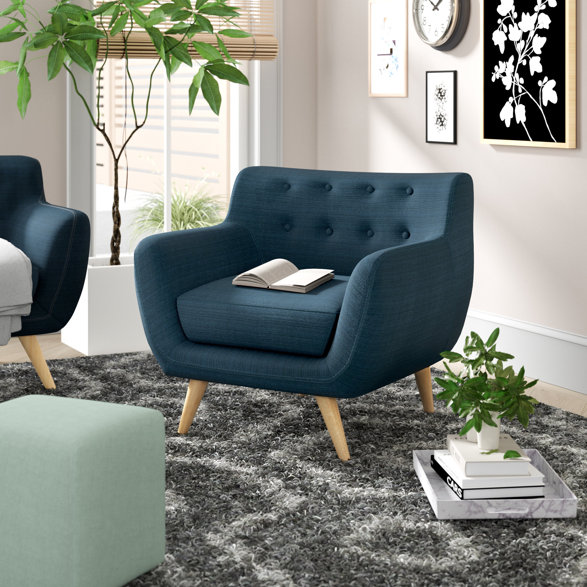 Langley Street Matteo Armchair & Reviews | Wayfair With Regard To Matteo Arm Sofa Chairs (Image 7 of 25)