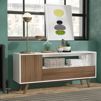 """Langley Street Quincy Tv Stand For Tvs Up To 65"""" & Reviews (Image 4 of 25)"""