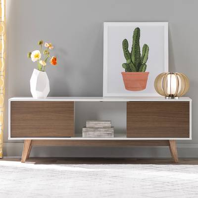 """Langley Street Quincy Tv Stand For Tvs Up To 65"""" & Reviews (Image 5 of 25)"""