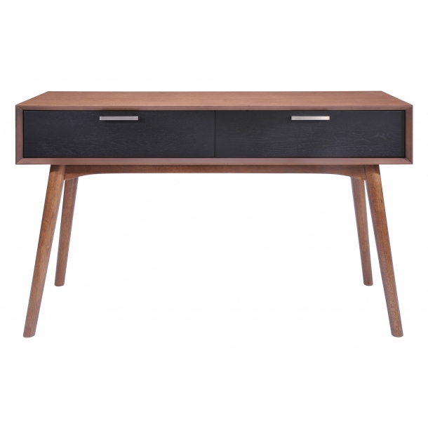 Laree Console Table Walnut & Black (100096)Zuo Modern Within Most Recently Released Balboa Carved Console Tables (Image 14 of 25)