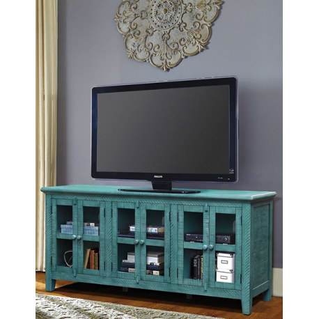 Latest Annabelle Blue 70 Inch Tv Stands Intended For Annabelle Blue 70 Inch Tv Stand Living Spaces Unusual Teal Tv Ideal (View 5 of 25)