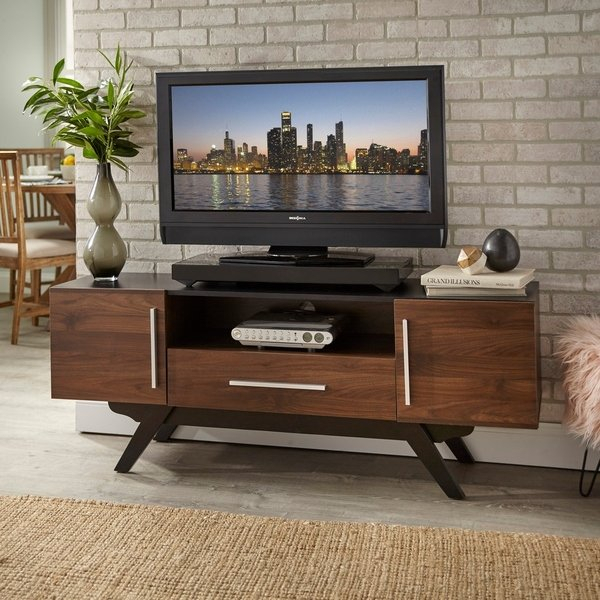 Latest Century Blue 60 Inch Tv Stands With Regard To Shop Carson Carrington Arendal Mid Century Tv Stand – Free Shipping (Image 6 of 25)