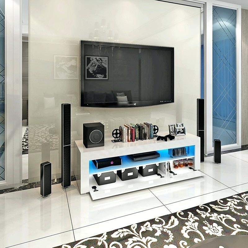 Latest Cream High Gloss Tv Cabinet With Gloss Tv Stand – Babywatch (Image 14 of 25)