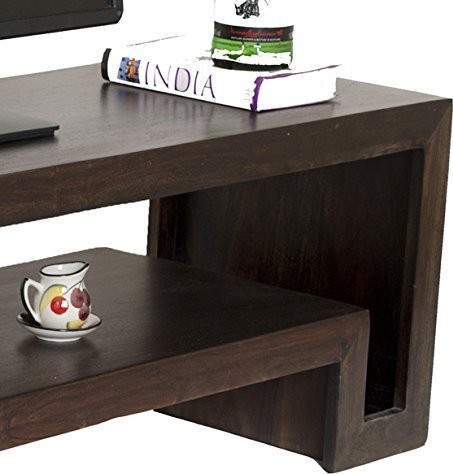 Latest Daintree Tv Stands Pertaining To Timbertaste Daintree Hema Solid Wood Tv Entertainment Unit Dark (Image 2 of 7)