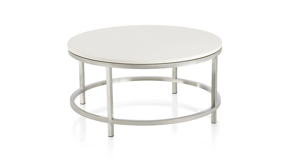 Latest Era Limestone Console Tables Intended For Era Limestone Round Coffee Table (Image 15 of 25)