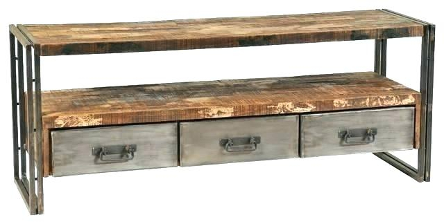 Latest Gunmetal Perforated Brass Media Console Tables For Metal Tv Console Modern Wood Table And Stand Media Home Improvement (Image 7 of 16)